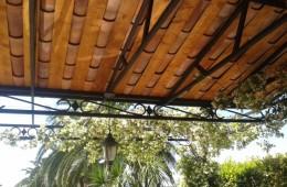 (English) Provencal Tiles Wrought Iron Pergola