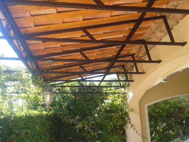 Waterproof Provencal Pergola Wr Creations Traditional Ironwork Architectural Steel South Of France Alpes Maritimes