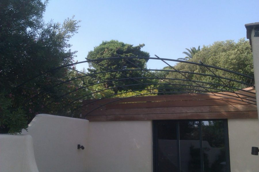 Hand forged wrought iron Pergola in Saint Tropez