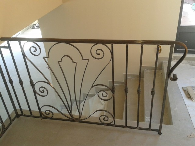 Iron Bannister installed in Peymeinade