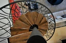 Custom Interior Balcony Mezzanine and Spiral Staircase in Saint-Tropez