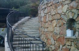 Sweeping Exterior Guard Railing in Vallauris