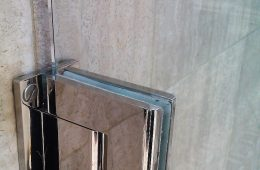 Chrome Finished Glass Door in Monaco