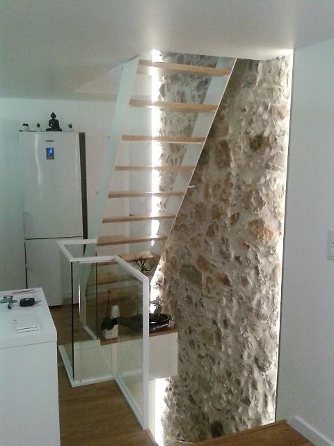 Escalier moderne, maison de ville à Cannes