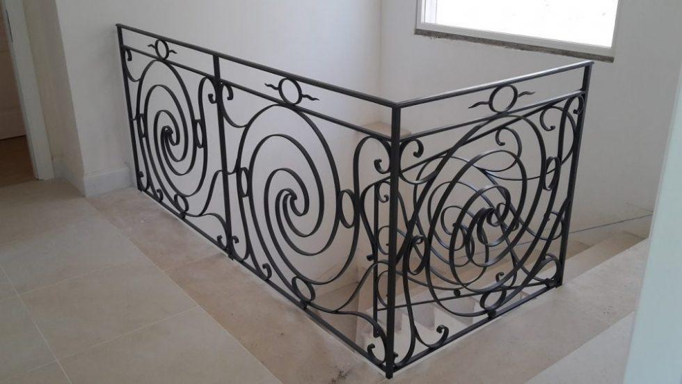 Scrolled stair rail (2)