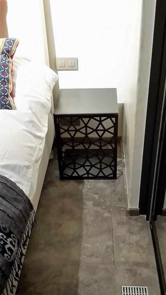 Custom laser cut bedside table