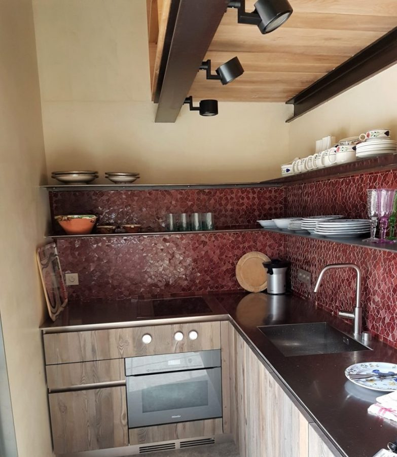 Steel kitchen shelves