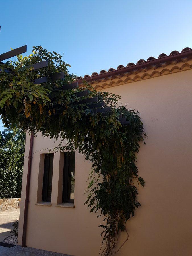Modern Waterproof Flat Roof Pergola Vine Arbor Plant