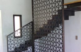 Custom Mezzanine, Floating Staircase with Laser-cut Panel, Pergolas and Furniture Project in Saint-Tropez