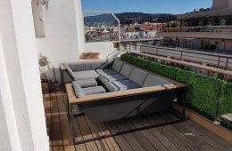 Custom made outdoor furniture, Guard railing & Privacy planters in Nice